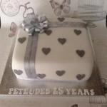 Anniversary Cake - Silver  Anniversary