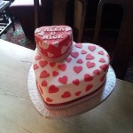 Engagement Cake - Two Tier Heart