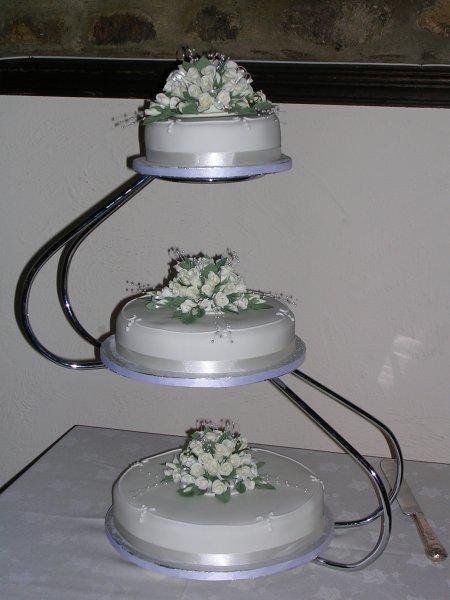 Wedding Cake - 3 Tier Wedding Cake -  Hand Made Flowers